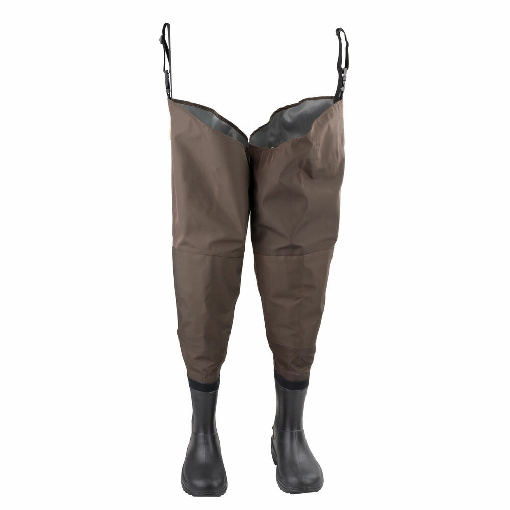 hodgman redstone fishing hip wader no slip sole boot brown