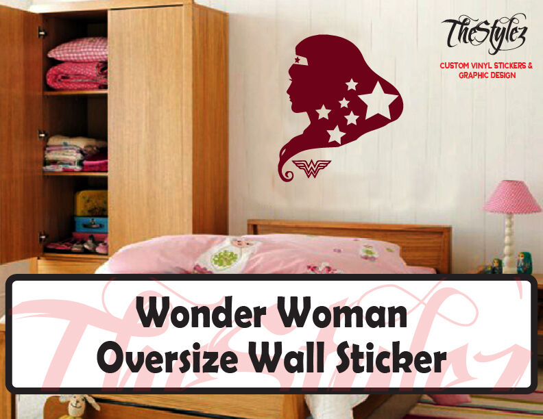 wonder woman with stars silhouette oversize wall sticker the legend of zelda custom oversize vinyl wall sticker ebay