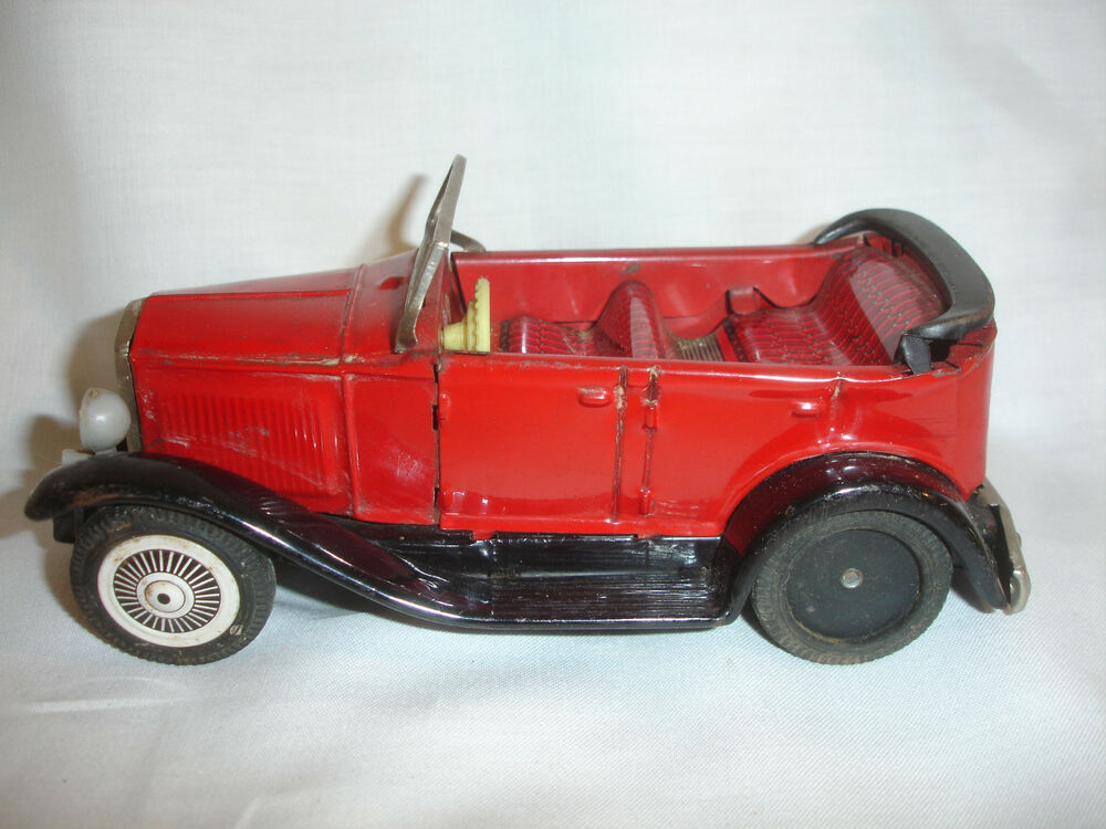 old vtg sign of quality tin friction convertible toy car made in japan ebay. Black Bedroom Furniture Sets. Home Design Ideas