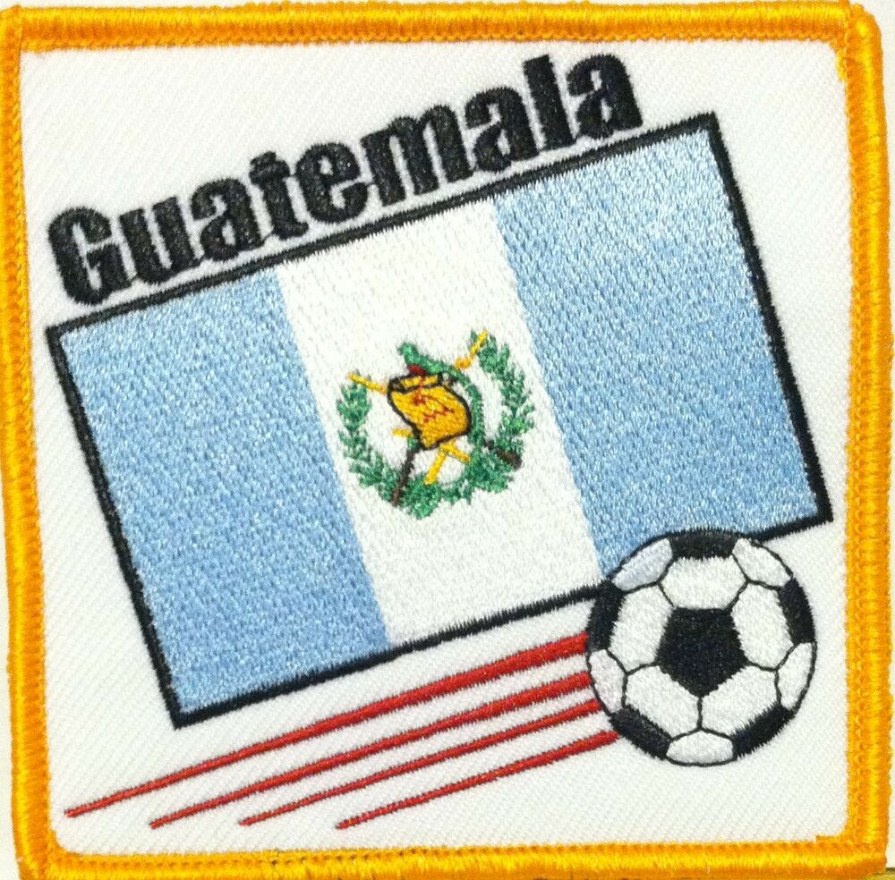Guatemala flag soccer ball embroidery iron on patch