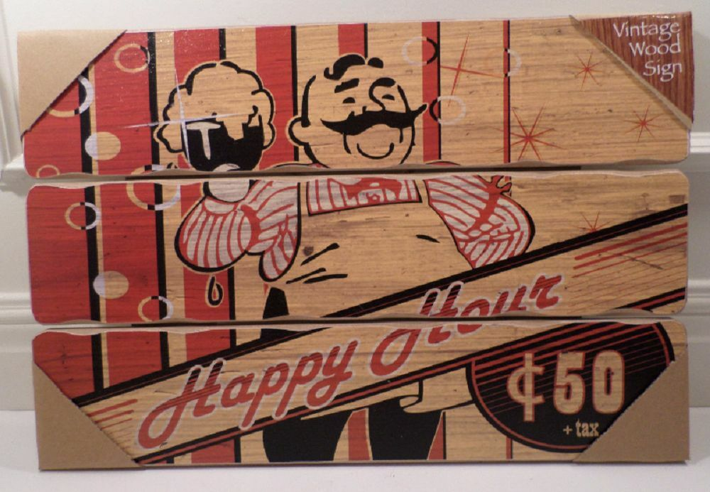 Man Cave Vintage Signs : Bar man cave wooden wall sign plaque vintage inspired ebay
