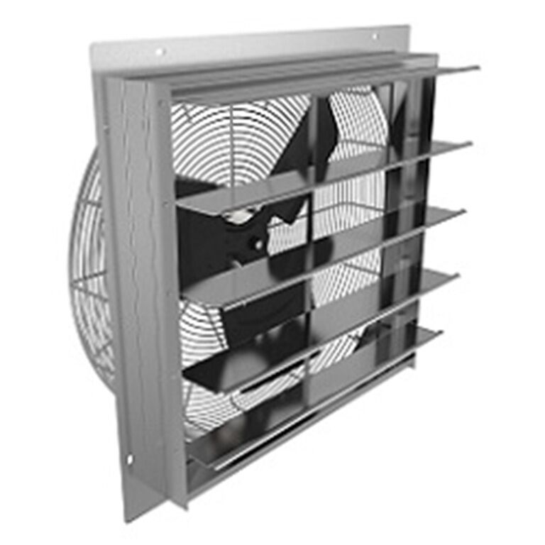 Residential Garage Ventilation Fan : Fantech she quot shutter mounted exhaust fan garage
