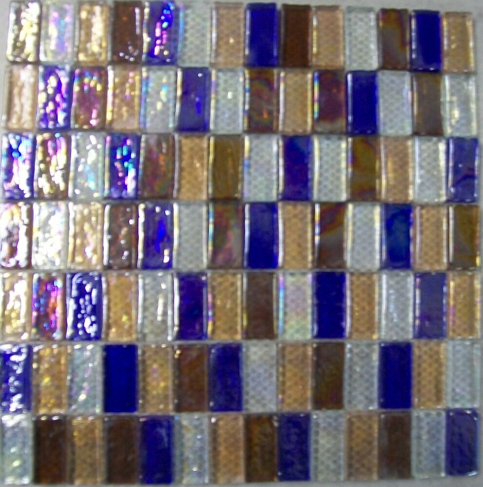 Glass Mosaic Wall Tiles Pearlescent Mix Kitchen Or