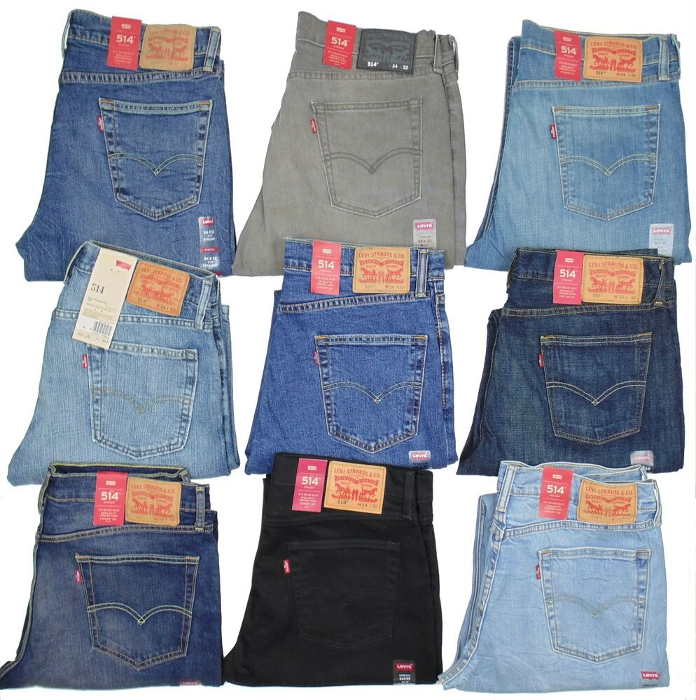 levis 514 mens jeans slim fit straight leg many sizes many colors new with tags ebay. Black Bedroom Furniture Sets. Home Design Ideas