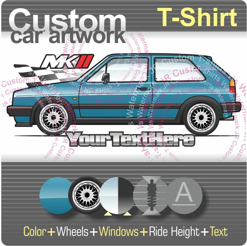 custom t shirt for 84 87 vw golf mk2 mkii gti 16v gtd g60 c cl gl gt carat fans ebay. Black Bedroom Furniture Sets. Home Design Ideas