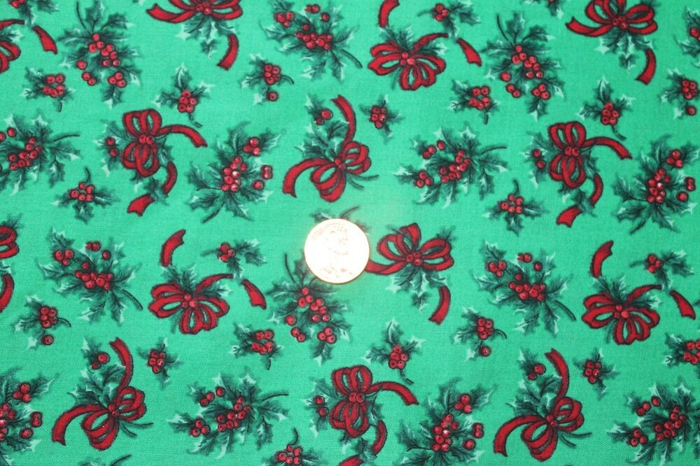 """CHRISTMAS BASICS"" COTTON QUILT FABRIC BY THE YARD FOR VIP"