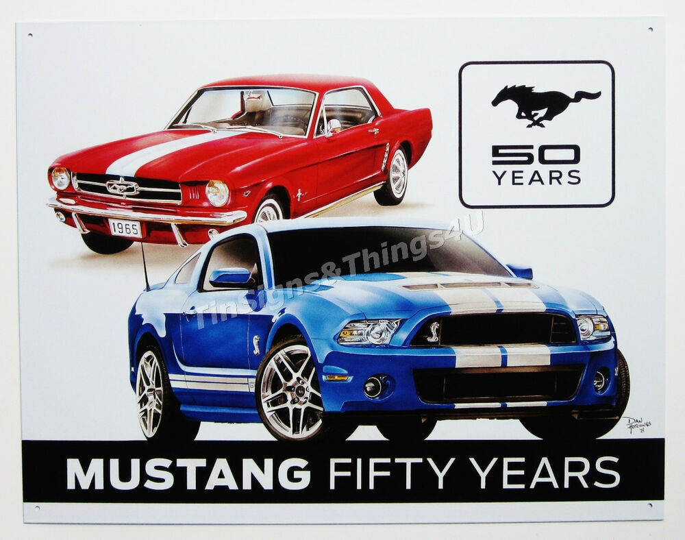 ford mustang fifty years tin sign shelby vtg gt 500 metal ford mustang home decor home decorating ideas cafepress