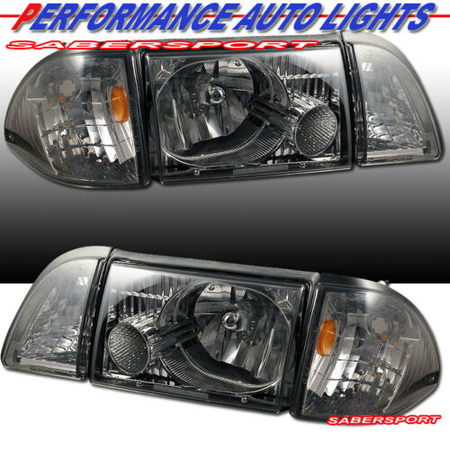 set-of-smoke-headlights-w-corner-and-parking-lights-for-19871993-ford-mustang