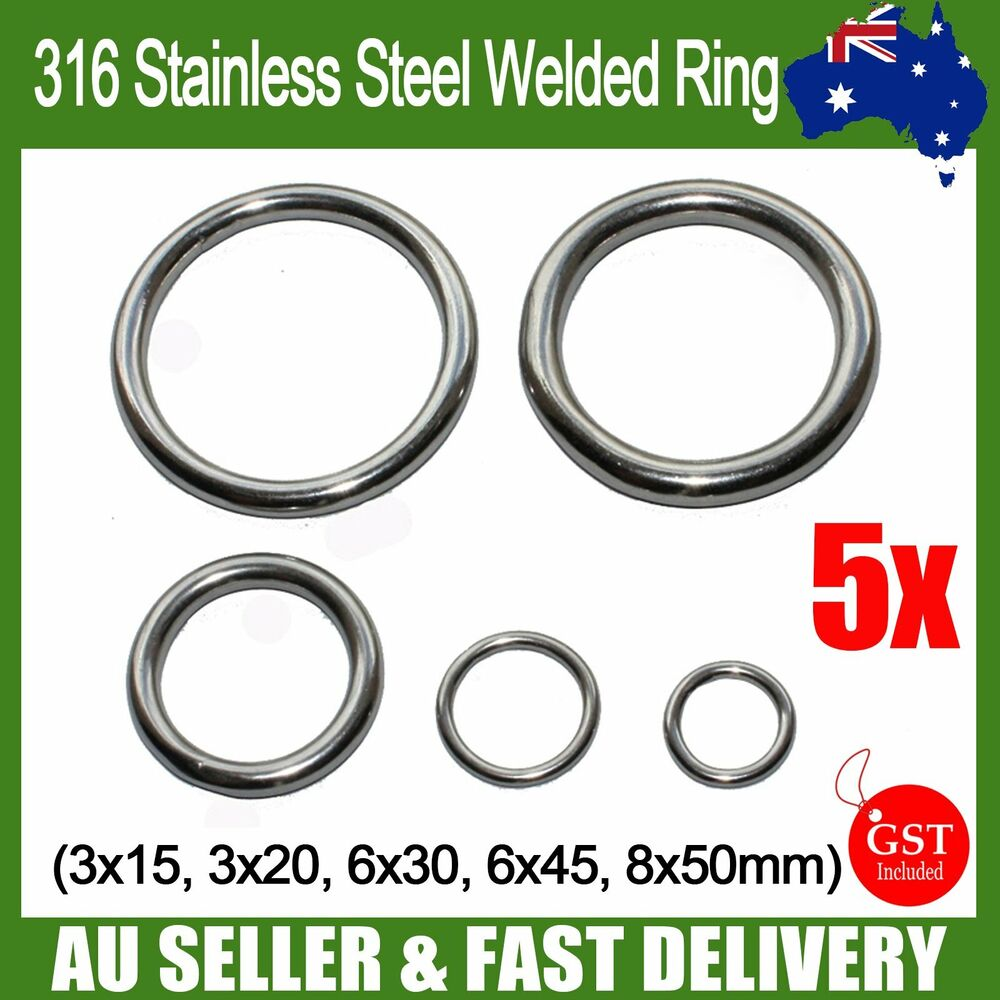 Welded ring stainless steel o round rings marine