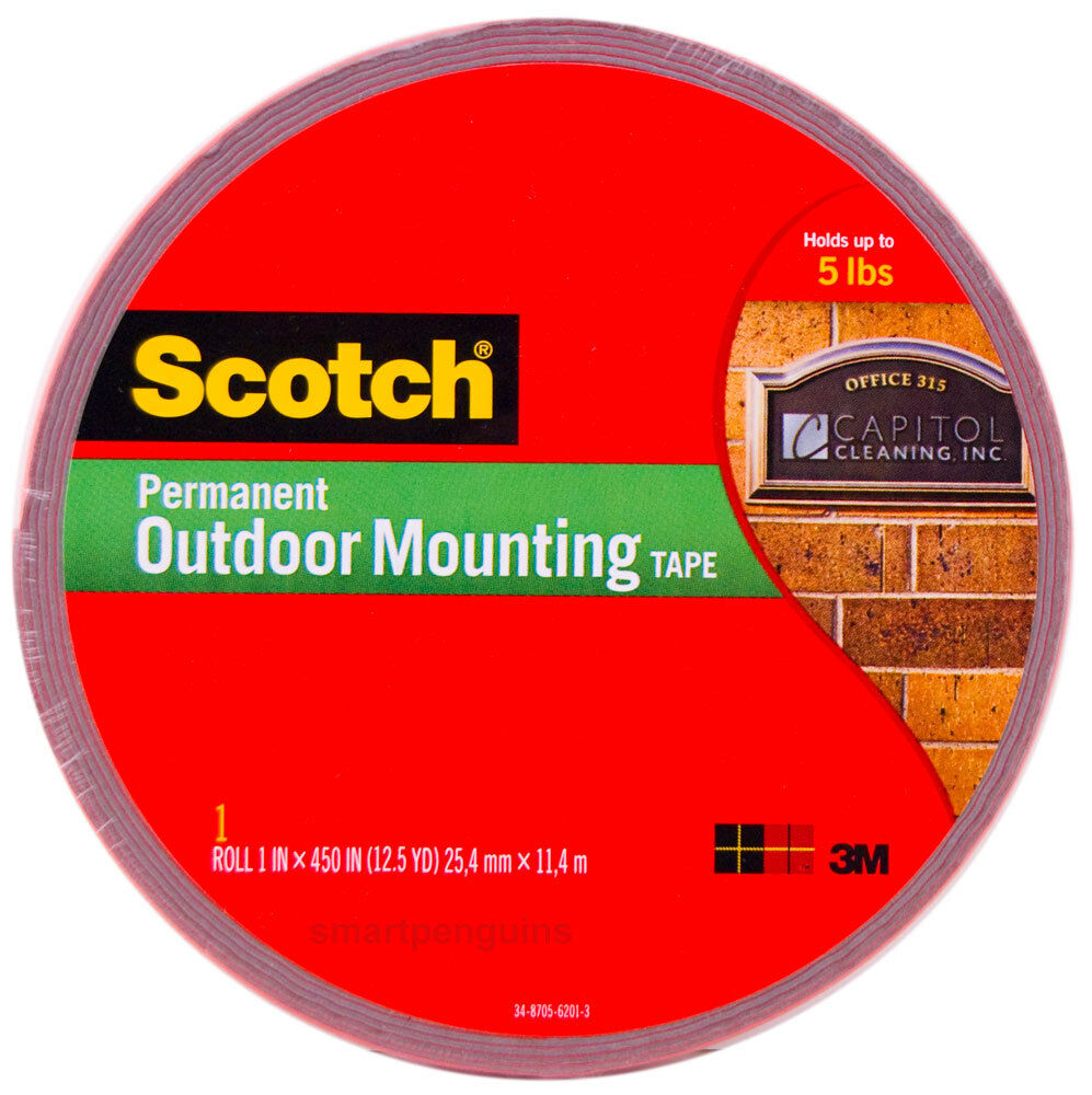 3m scotch outdoor mounting tape 4011 long double sided. Black Bedroom Furniture Sets. Home Design Ideas