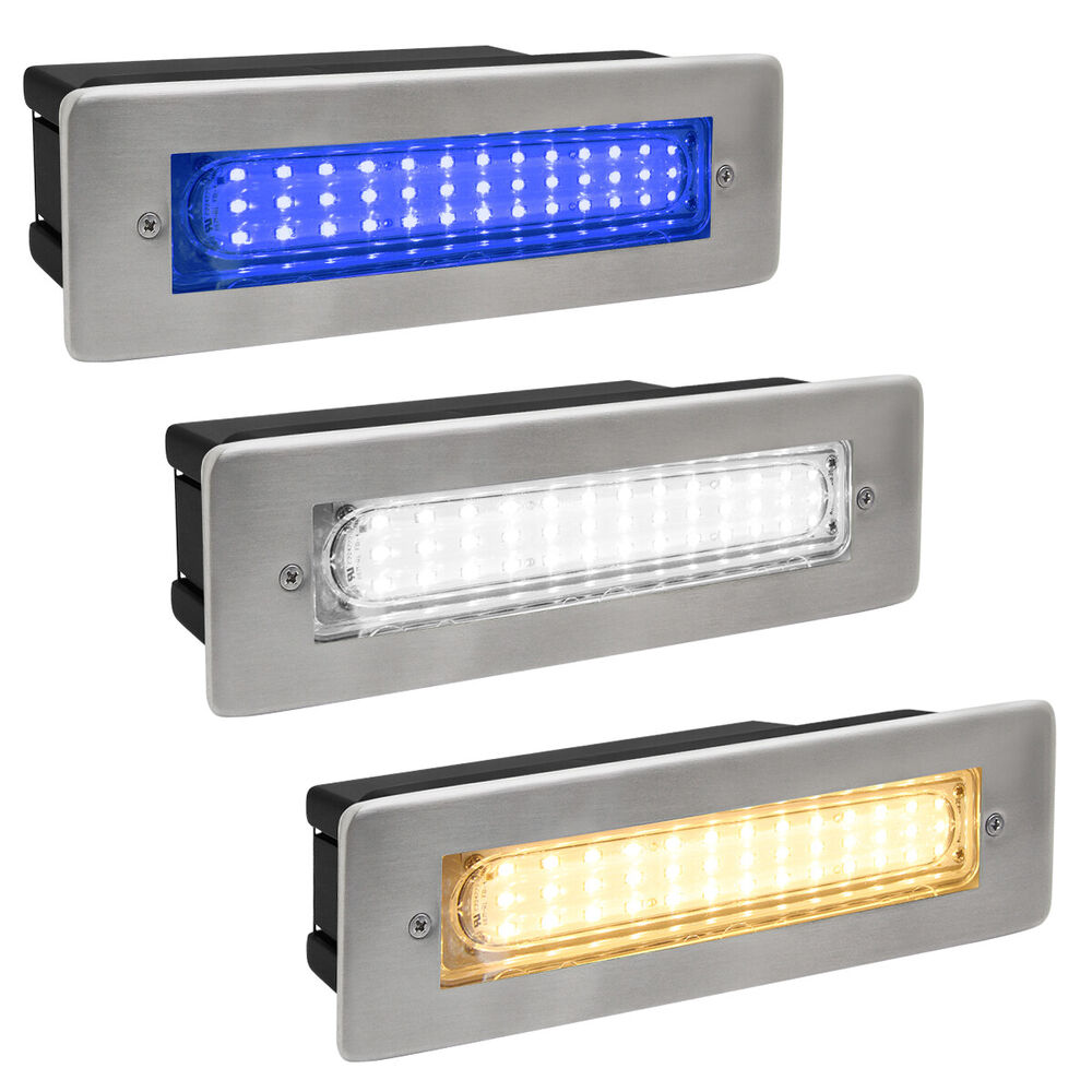 Led Wall Light Ip65: IP65 Recessed LED Outdoor Bricklight Wall Light In White