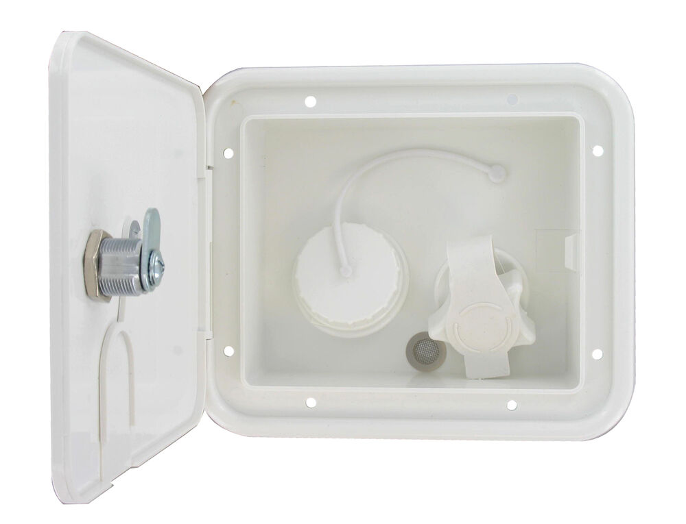 White Gravity Plastic City Water Tank Inlet Hatch Camper