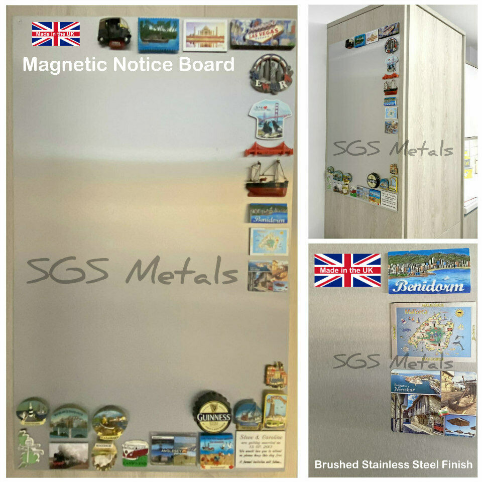 magnetic board steel  ebay - brushed stainless steel magnetic notice board a a a a or  x mm