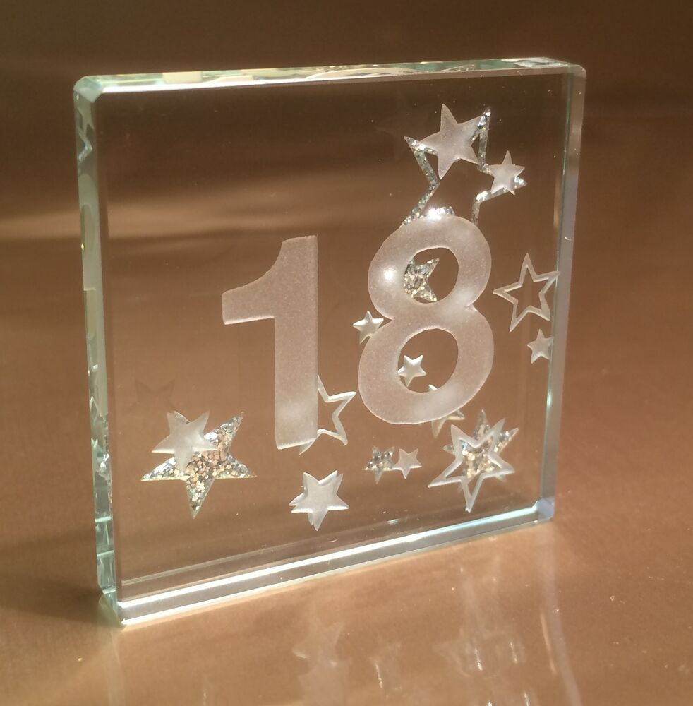 Happy 18th Birthday Gift Ideas Spaceform Mini Glass Token