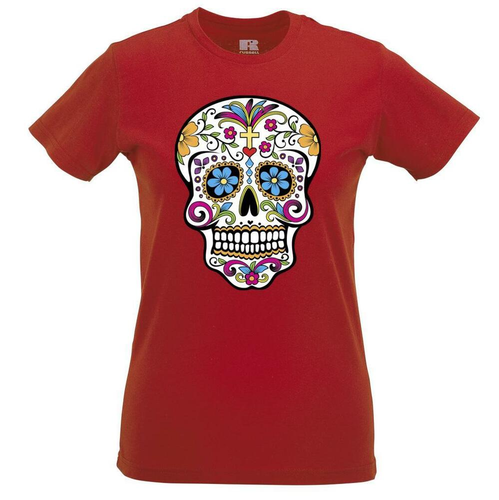 sugar skull t shirt cool dope swag tumblr gothic fashion