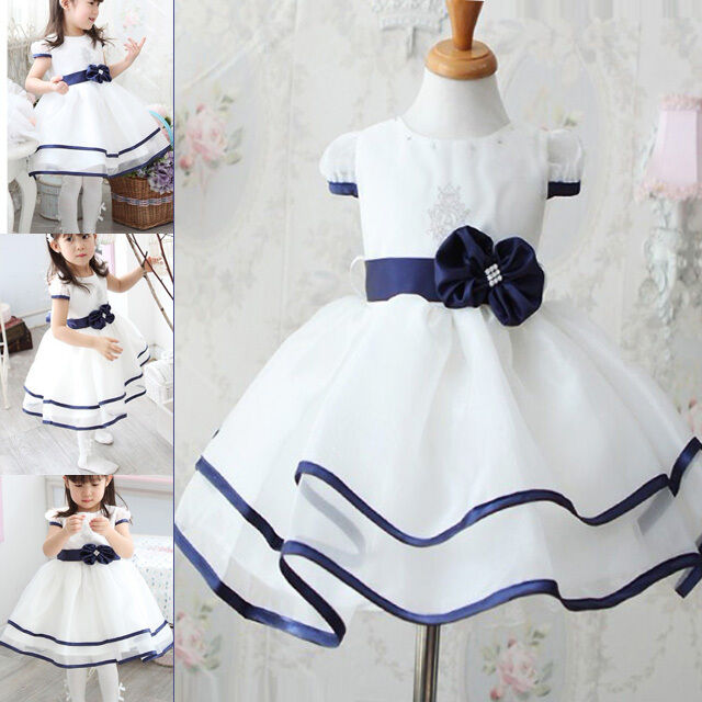 Cute white baby girls kids clothing formal party wedding for 12 month dresses for wedding