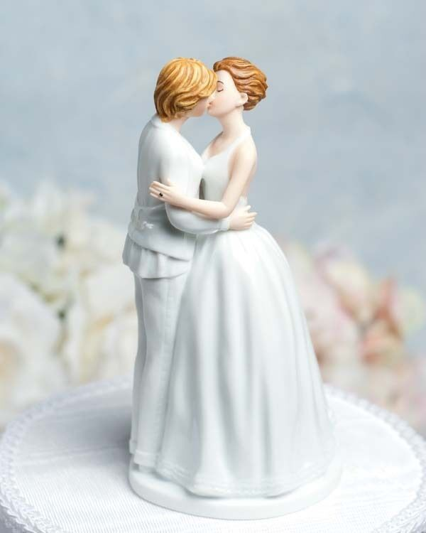 Details about Gay Lesbian Romance Kissing Bride Female Couple Wedding Cake  Topper Figurines