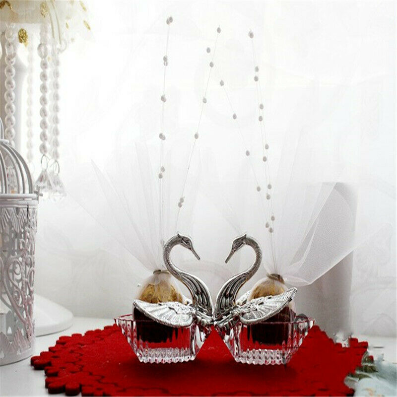 Elegant Romantic Swan Wedding Favour Gift Box Candy Boxes