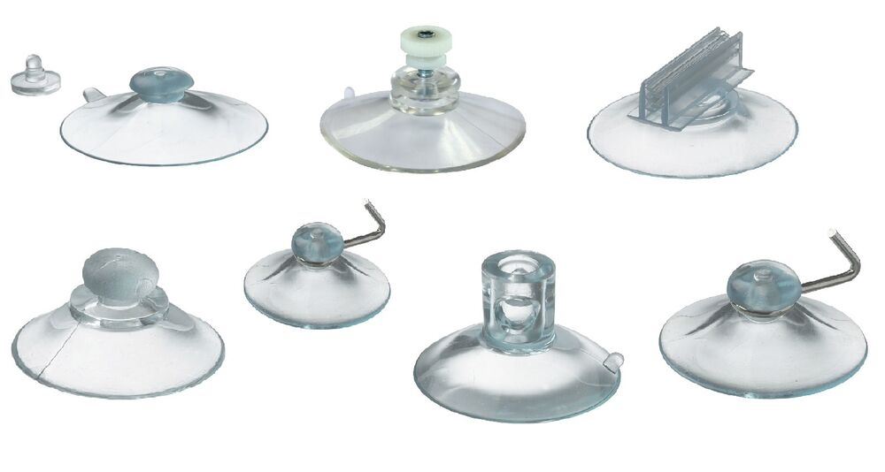 Clear Plastic Rubber Suction Cups Window Suckers Pos Holders Different Types Ebay