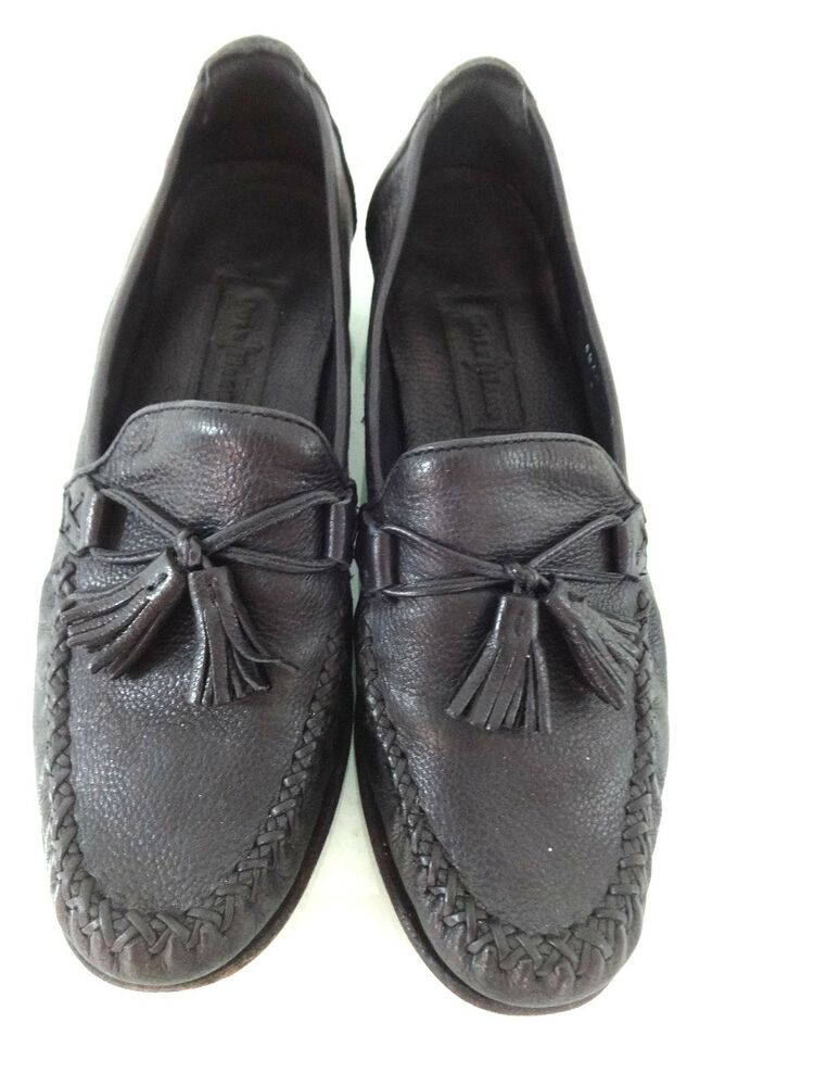 cole haan womens black leather loafers shoes 8 5 aa ebay