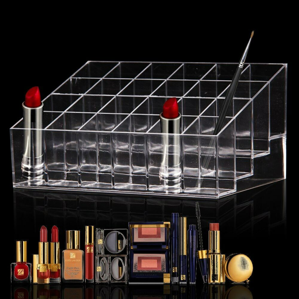 Exhibition Stand Organizer : Clear acrylic lipstick holder display stand cosmetic