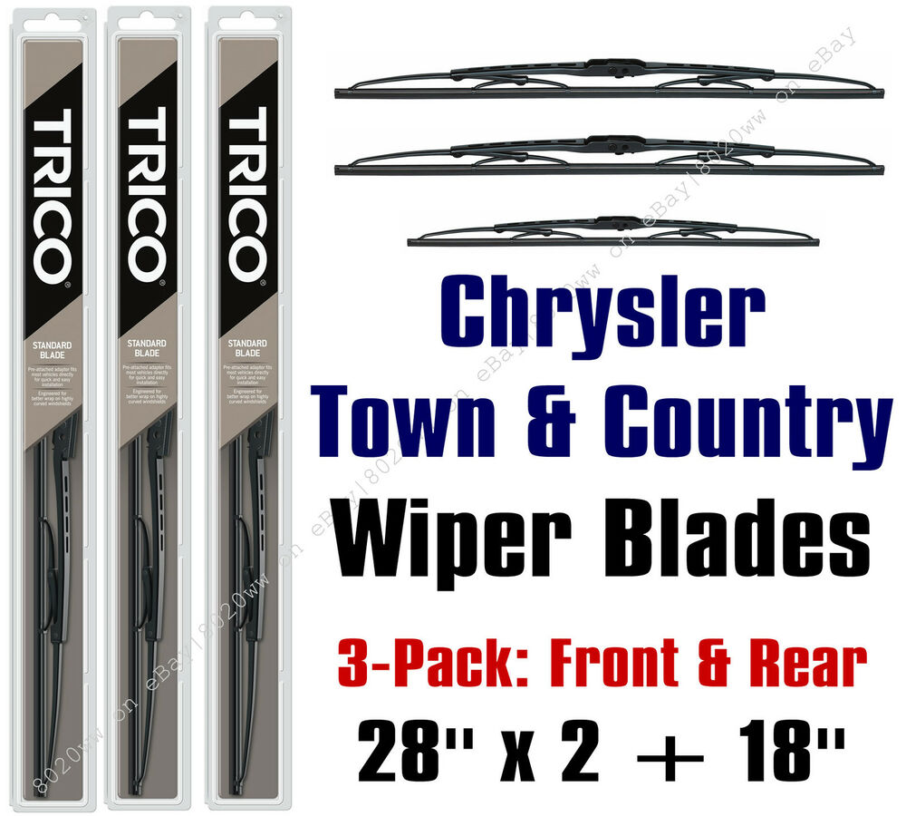 Chrysler town country 1996 2000 wiper blades 3 pk front for 2002 chrysler town and country power window problems
