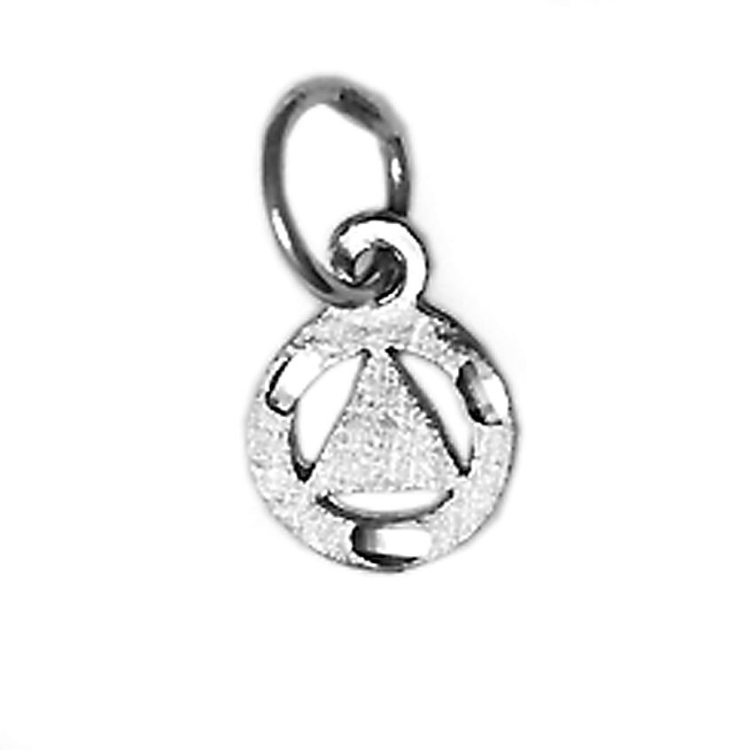 aa alcoholics anonymous jewelry pendant sterling