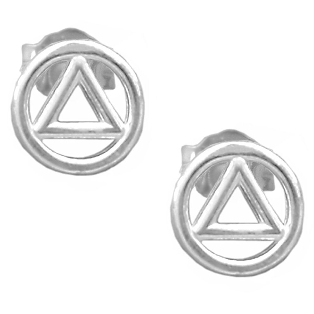 aa alcoholic anonymous jewelry ster stud earrings 129 ebay
