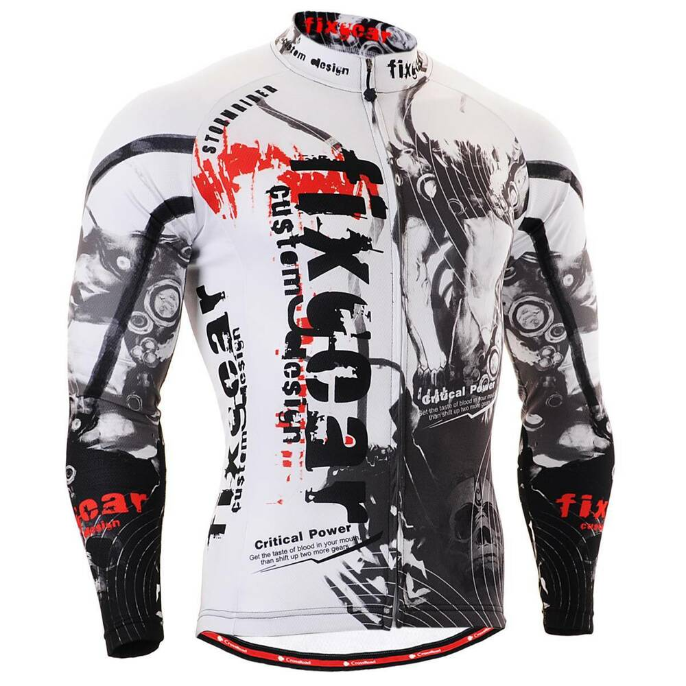 FIXGEAR CS-3001 Men's Long Sleeve Cycling Jersey Bicycle ...