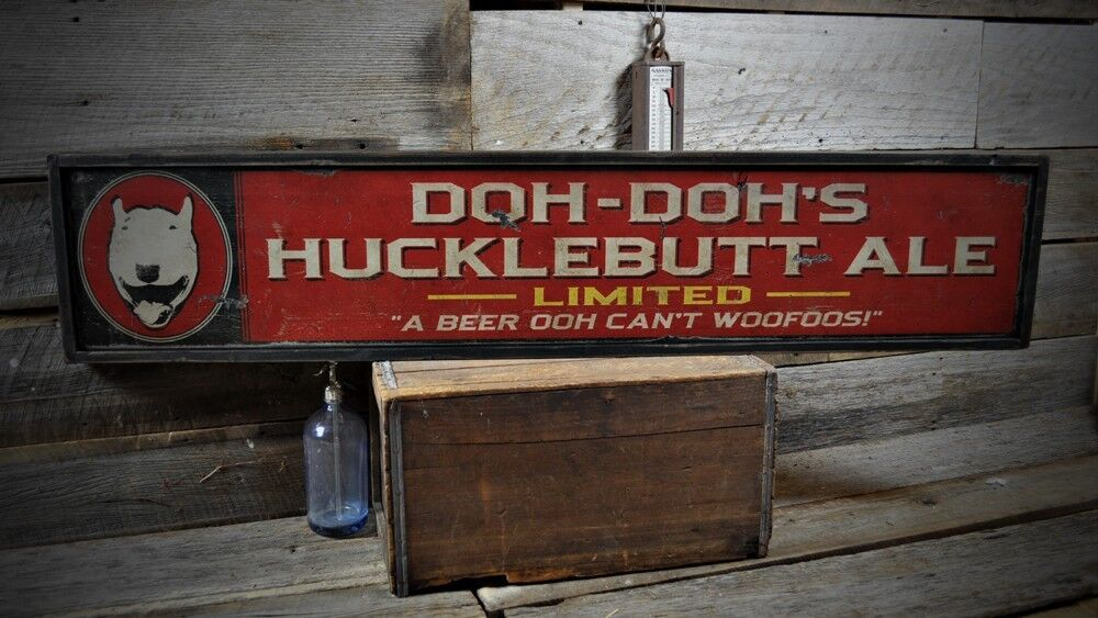 Man Cave Signs Uk : Custom bar or man cave sign rustic hand made vintage