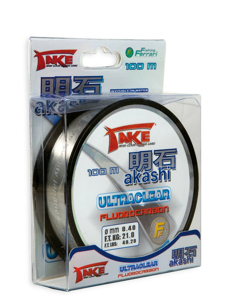 Take akashi fluorocarbon invisible fishing line 50 100 m for Fluorocarbon fishing line