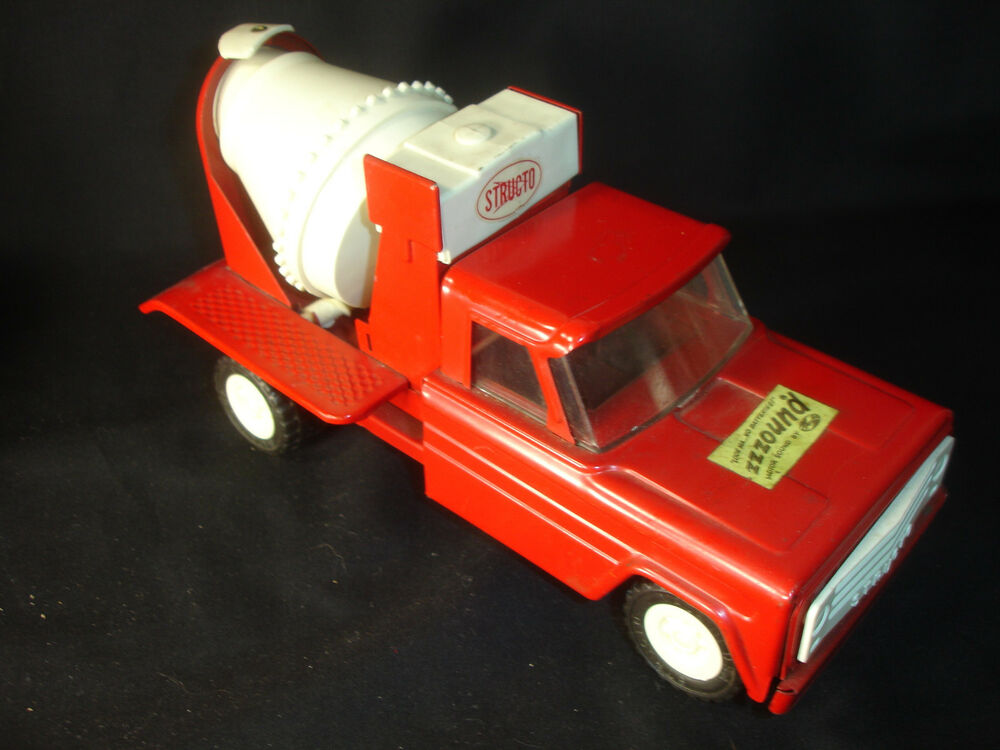 Mixer Truck Toy : Rare old vtg structo pressed steel toy cement mixer truck