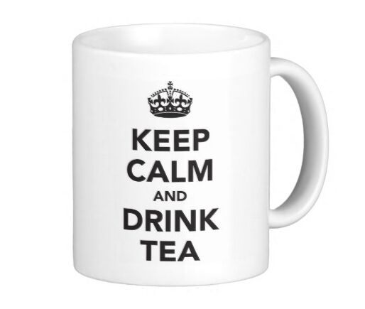 KEEP CALM and DRINK COFFEE TEA Funny UK Britain office ...