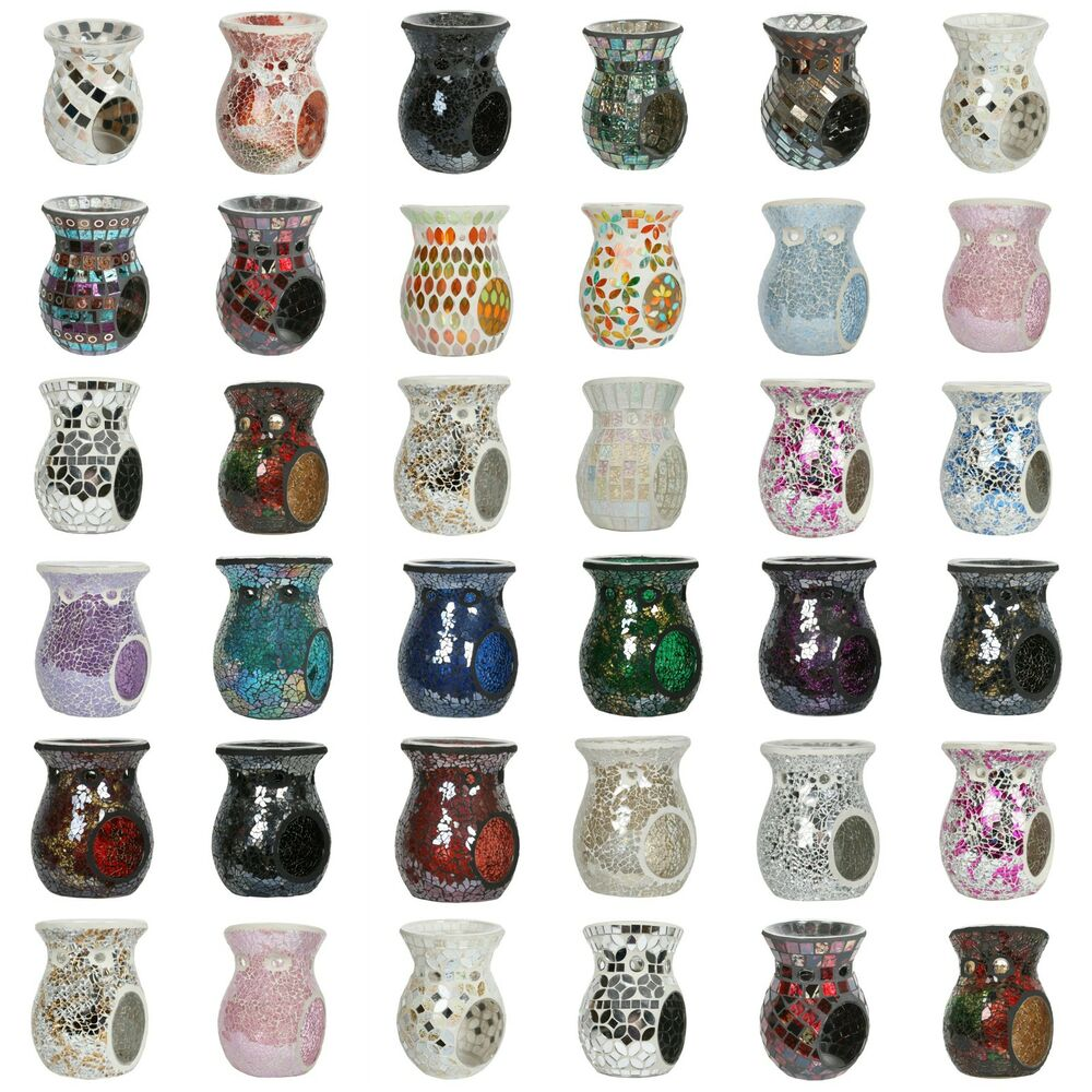 Village Candle Aroma 14cm Mosaic Wax Melt Oil Burners
