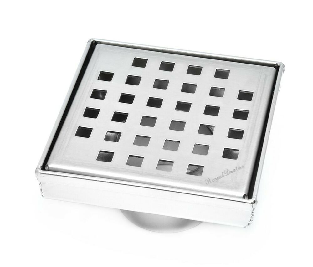 Royal Square Shower Drain Stainless Steel By Serene Steam