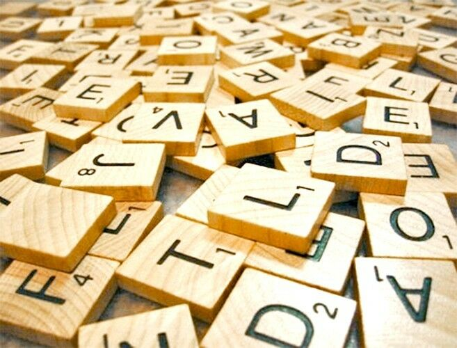 Individual Official Scrabble Tiles Wooden Game Replacement