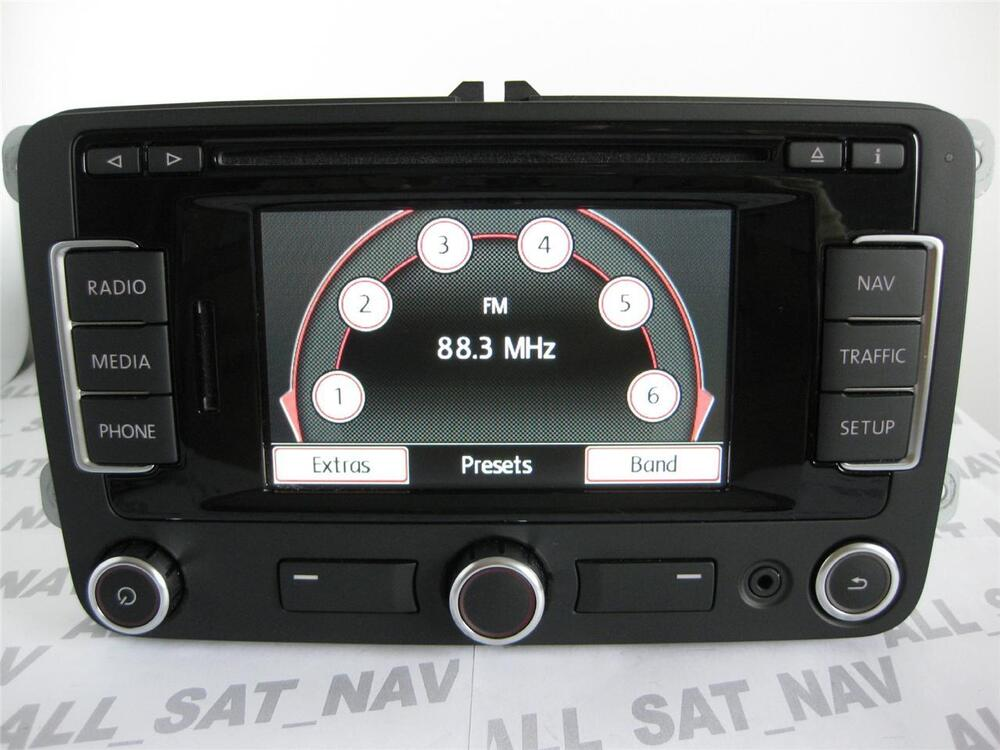vw rns 315 rns315 dab bluetooth navigation system sat nav gps vw replace 310 510 ebay. Black Bedroom Furniture Sets. Home Design Ideas