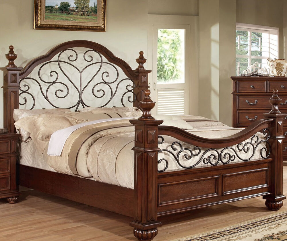 Antique Traditional Queen King Bedroom Furniture Classic Style Bed Frame New Ebay