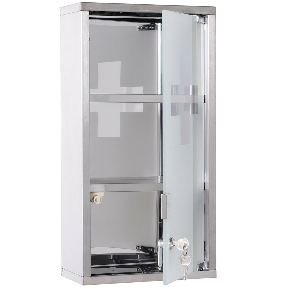 Wall mounted medicine cabinet first aid box glass door Wall mounted medicine cabinet