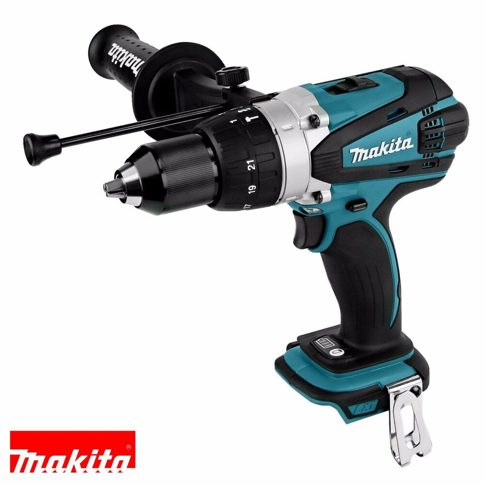 makita dhp458z dhp458 18v compact combi hammer drill driver naked body only ebay. Black Bedroom Furniture Sets. Home Design Ideas