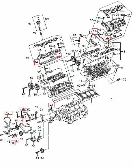 2007 2009 suzuki xl7 timing chain kit oem 12700