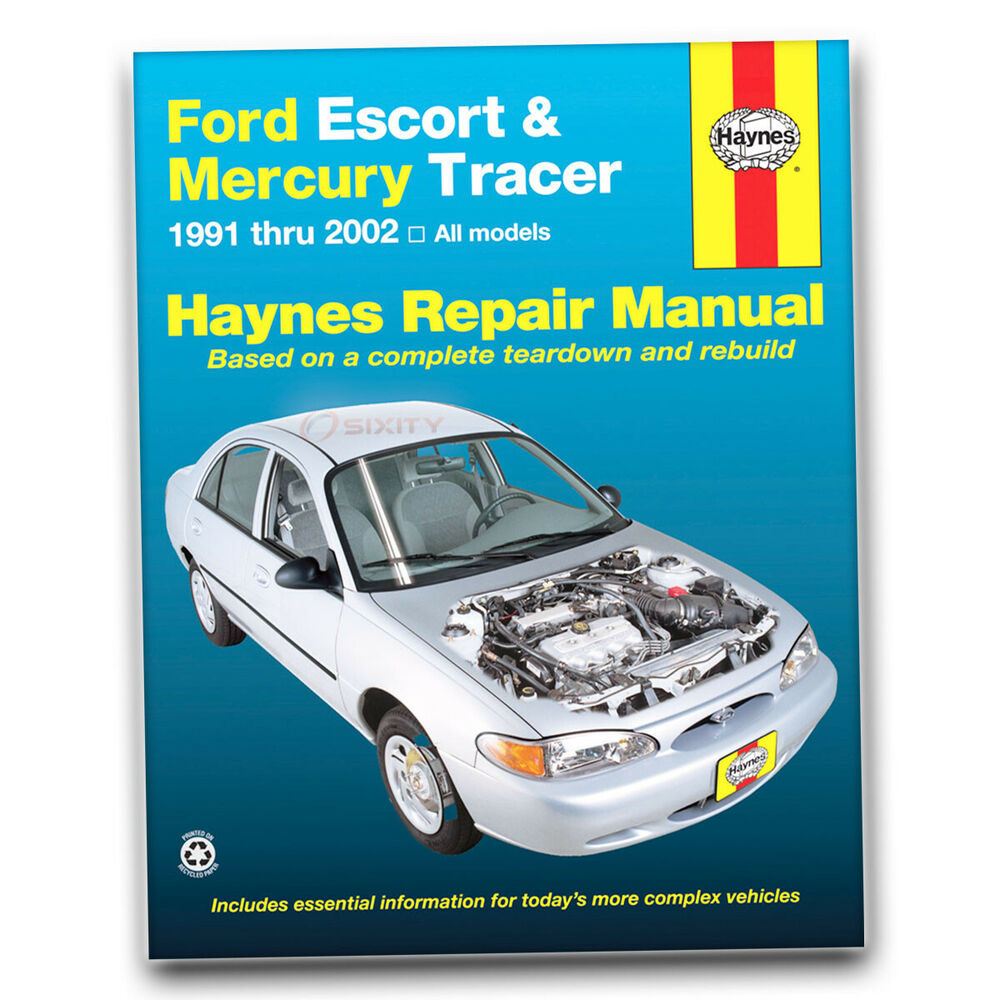 Haynes Repair Manual for Ford Escort LX Sport GT ZX2 S/R Hot Coupe LX-E SE  xw | eBay