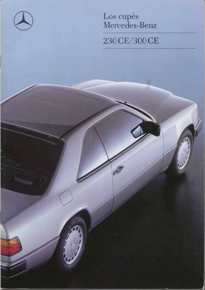 mercedes benz w124 coupe 1988 89 original spanish sales brochure 230 ce 300 ce ebay. Black Bedroom Furniture Sets. Home Design Ideas