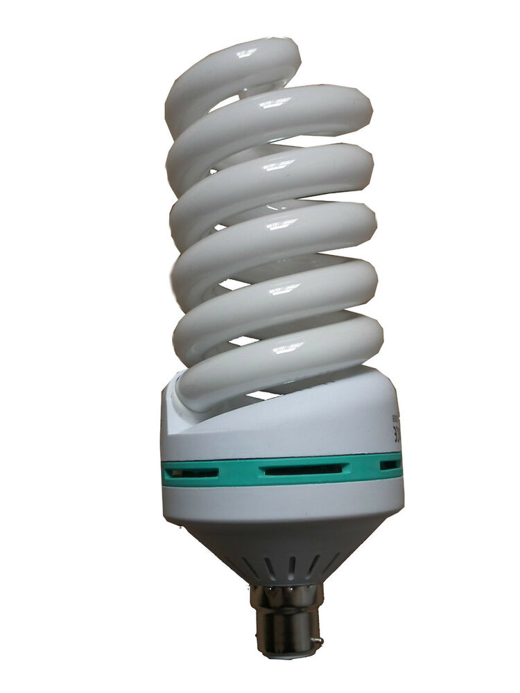 85w Spiral Cfl Energy Saver Bulb B22 E27 Photography Home Office Cool Daylight Ebay