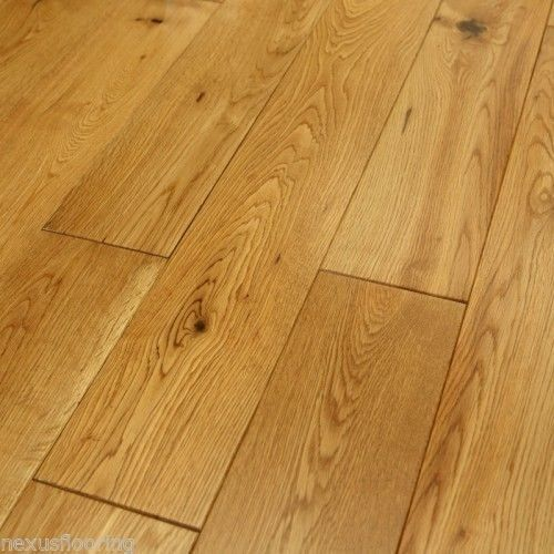 Solid oak flooring real wood wooden wide floor hardwood ebay for Real solid wood flooring