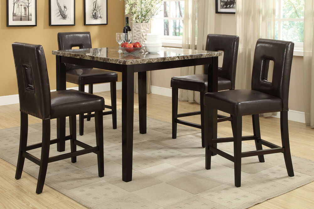 counter height dining chairs 4pcs set dining room