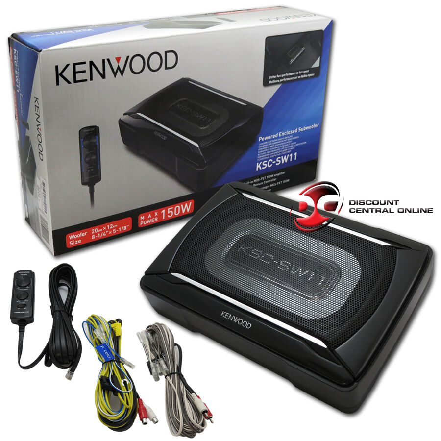 kenwood ksc sw11 compact powered subwoofer aluminum. Black Bedroom Furniture Sets. Home Design Ideas
