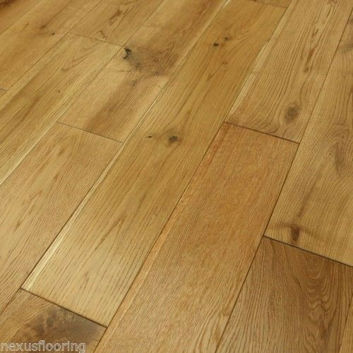 Solid oak brushed oiled real wood wooden floor hardwood for Real solid wood flooring