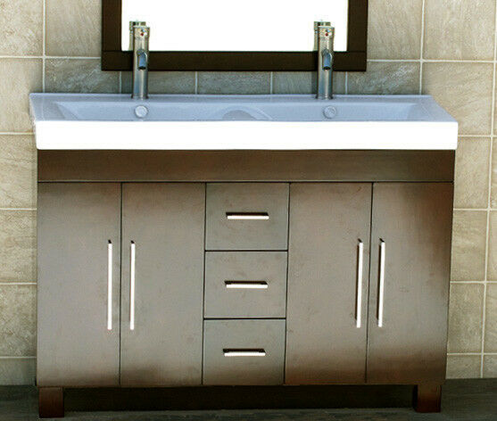 bathroom vanity double sink 48 inches 48 quot bathroom vanity ceramic lavatory top with 24993