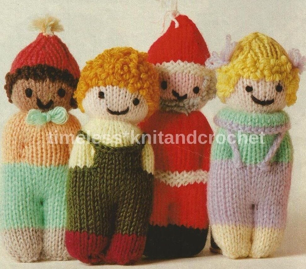 KNITTING PATTERN FOR EASY TO KNIT TOYS - DOLL / BABY TOY / STOCKING FILLERS ...